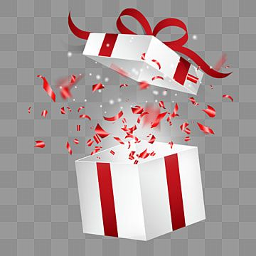 Beautiful Opened Christmas Gift And Red Confetti Fine Open Christmas Gifts Png Transparent Clipart Image And Psd File For Free Download Red Christmas Background Christmas Gift Background Merry Christmas Gifts