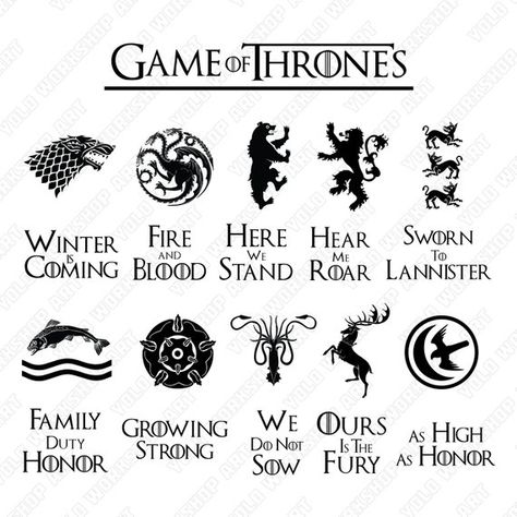 Game of Thrones Svg, Eps, Jpg , Png, Clipart, Printable, Silhouette file and Cricut File