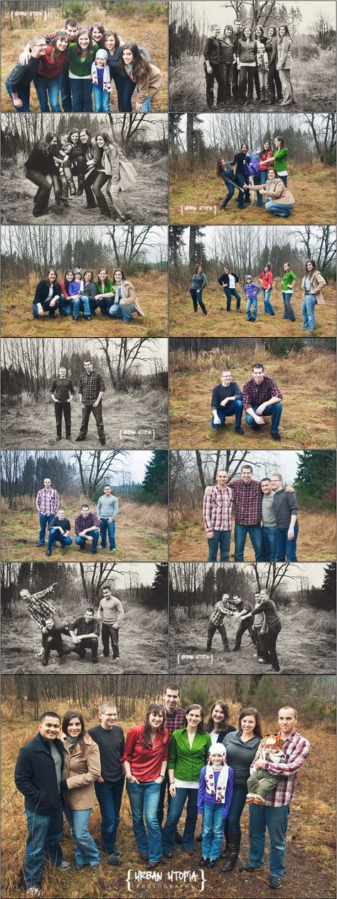 I really like the bottom picture.Photographer is higher than the family, makes a cool angle