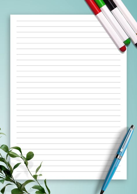 Lined Paper Template - College Ruled 7.1mm