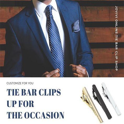 Father/'s Day Gift Business Suit Tie Moustache Decor Tie Men Clip Bars Pin Clasp