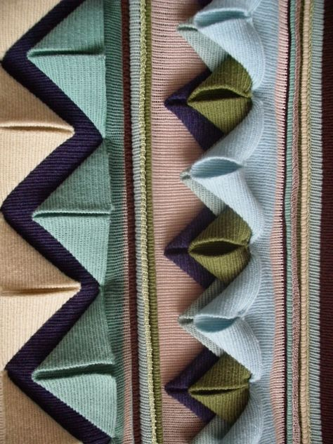 Fabric Manipulation - decorative textures in knitted fabric #textiles Jade Drew