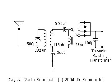 Crystal Radio 47 Schematic Crystals Radio