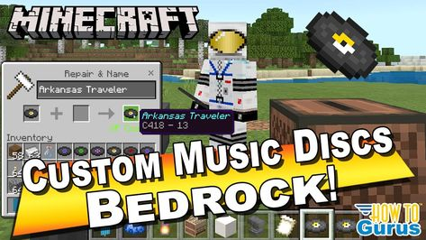 How To Custom Music Discs Minecraft Bedrock Change What S On The Recor Bedrock Minecraft Music All Minecraft
