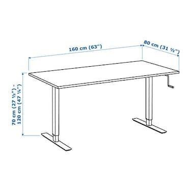 Ikea Zit Sta Bureau.Skarsta Bureau Zit Sta Wit 160 X 80 Cm In 2018 Crafts On