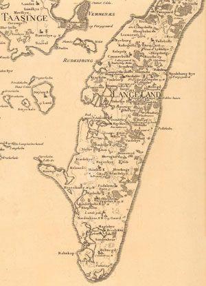Langeland 1783 Gamle Kort Kort Geografi