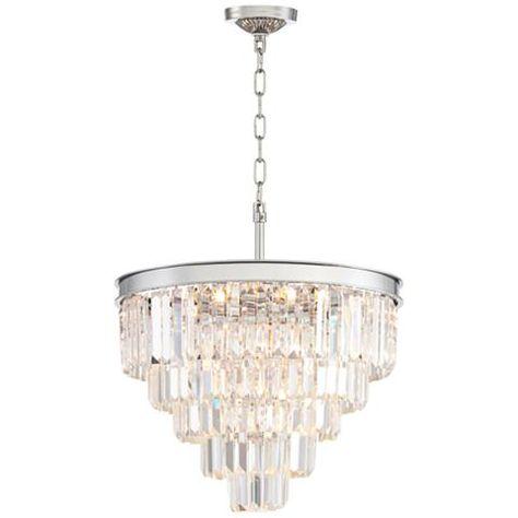 Canberra 19 3 4 Wide Chrome 12 Light Crystal Chandelier 1g887