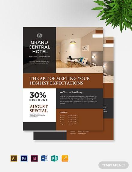 Hotel Promotional Flyer Promotional Flyers Leaflet Design Flyer