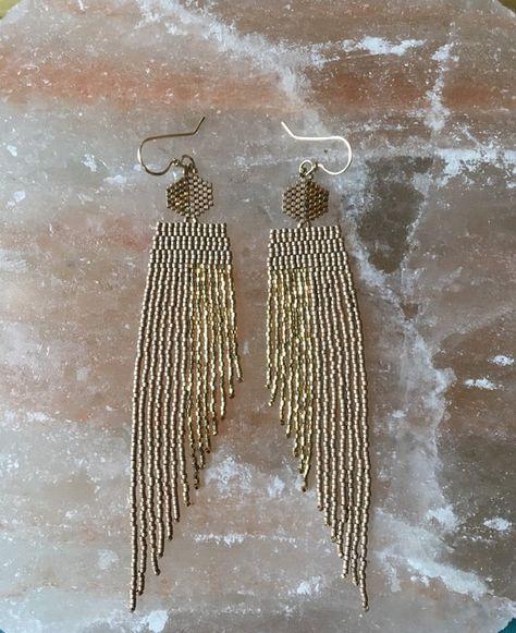 Boho Fringe Earrings Women\u2019s boho earrings Bohemian Earrings Cute Fringe Macrame Earrings Tassel Earrings Fringe Earrings