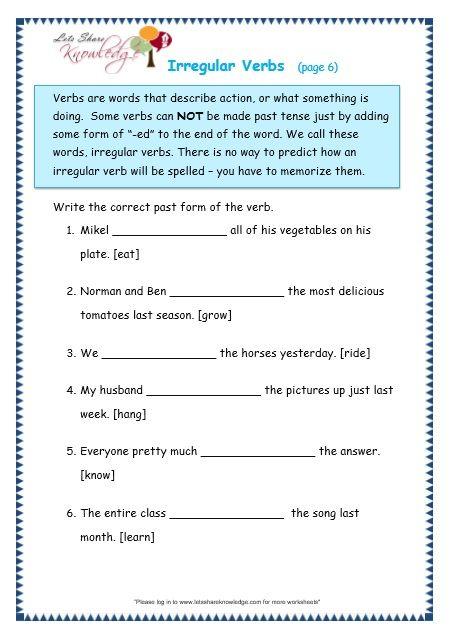 Irregular Verbs worksheet | Education | Irregular verbs ...