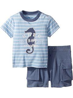 Ralph Lauren Baby Cotton T Shirt Shorts Set Infant Pullover