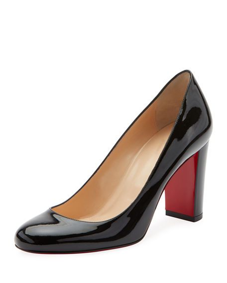 official shop detailed pictures buy sale Christian Louboutin Lady Gena Patent Red Sole Pumps | Red bottom ...