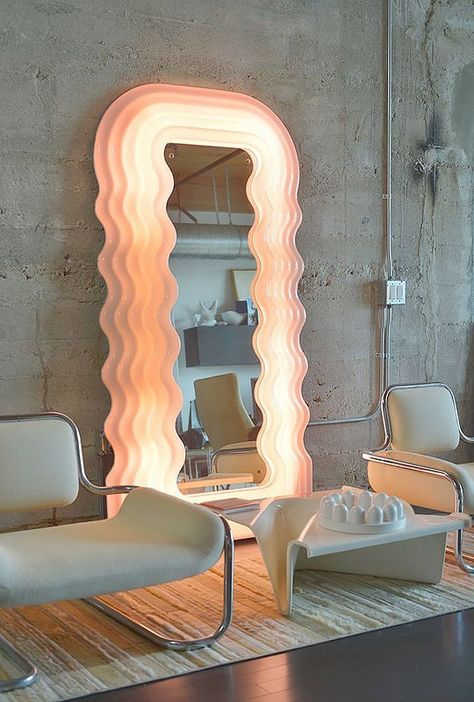 """""Ultrafragola"" mirror by Ettore Sottsass, made by Poltronova, circa "" Mirror Inspiration, Room Inspiration, Interior Inspiration, Interior And Exterior, Interior Design, Aesthetic Room Decor, Dream Apartment, Decoration Design, My New Room"