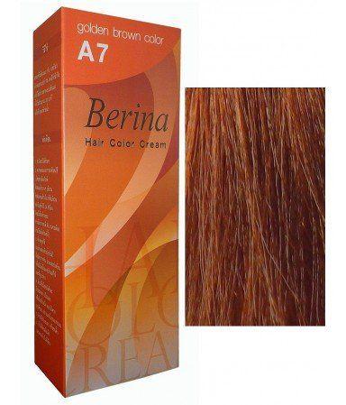 Berina Hair Professional Permanent Hair Color Cream A 7 Golden