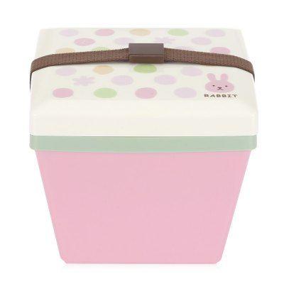 Prezzi e Sconti: #Square double layer japanese lunch box Instock  ad Euro 4.74 in #Pink #Kitchendining dinnerware