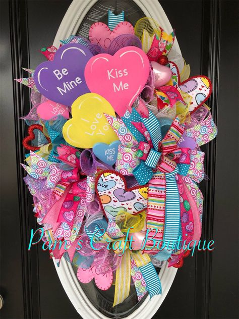 Conversation Heart Wreath Valentine's Day Wreath | Etsy