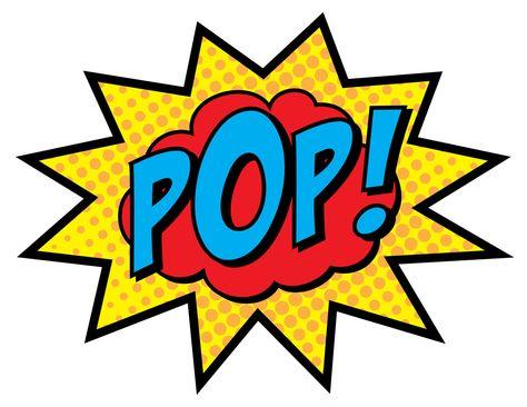 Superhero Party Signs Boom Pow Zap Bam Pop 8 5 X 11