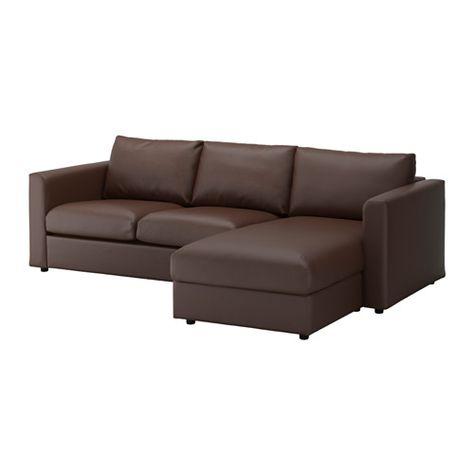 VIMLE Sofa, with chaise, Farsta dark brown   New Apartment   Ikea ...