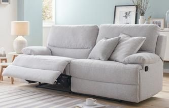 Fabric Recliner Sofa 49 In Modern