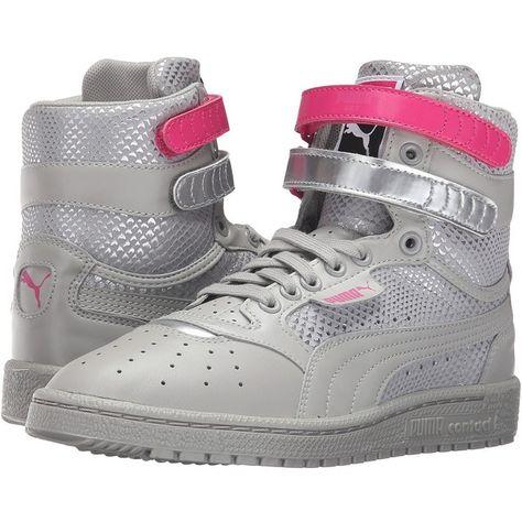 PUMA Sky II High Future Minimal (Drizzle) Women s Shoes ( 85) ❤ liked on  Polyvore featuring shoes 7caaedaab