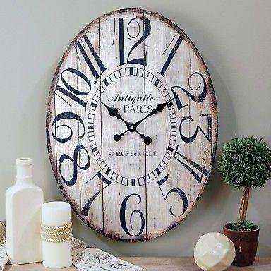 23 Wooden Large Antiquite De Paris Oval Wall Clock For Sale Online Ebay 23 Wooden Large Antiquite De Paris Oval Wall In 2020 Wall Clock Farmhouse Wall Clocks Clock
