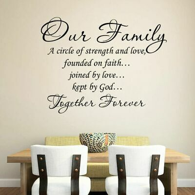 Together Forever Family Bible Quote Vinyl Wall Art Sticker for Room Home Decals
