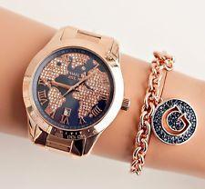 Original Michael Kors Uhr Damenuhr Mk6395 Layton Weltkarte Rose