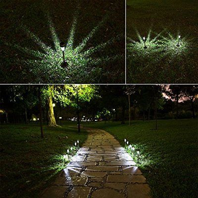 10 Pack Solar Pathway Lights Outdoor Decor Garden Cool White Led Yard Stakes Set Solar Pathway Lights Outdoor Lighting Landscape Pathway Lighting