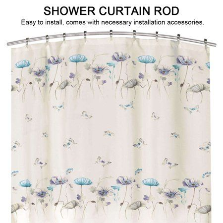 Extendable Telescopic Curved Stainless Steel Shower Curtain Rod