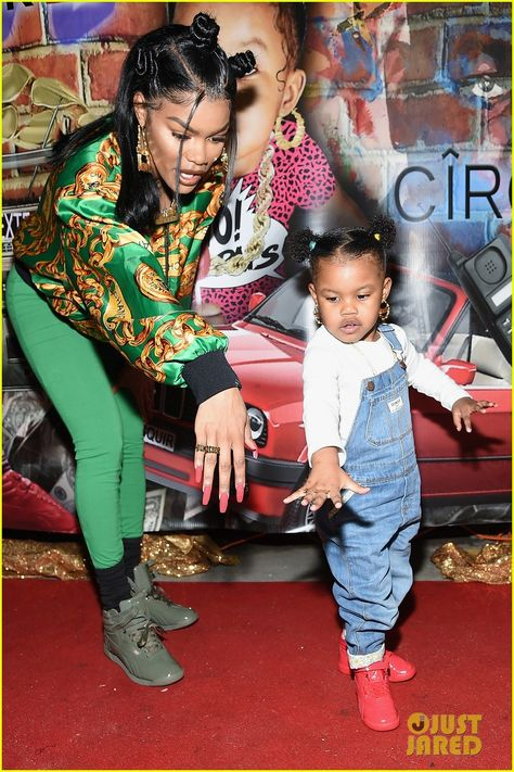 Teyana Taylor Gets Support from Missy Elliott & Baby Girl at Junie Bee Nail Salon Grand Opening!