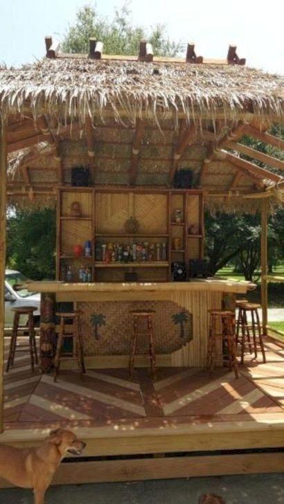 37 Awesome Outdoor Bar Backyard Ideas In 2020 Outdoor Tiki Bar