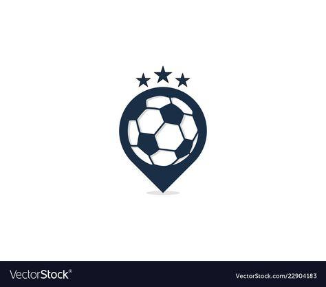Soccer point logo icon design