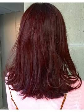 ヘアカラー ベリーピンク ブリーチなし 明るめ の画像検索結果 髪