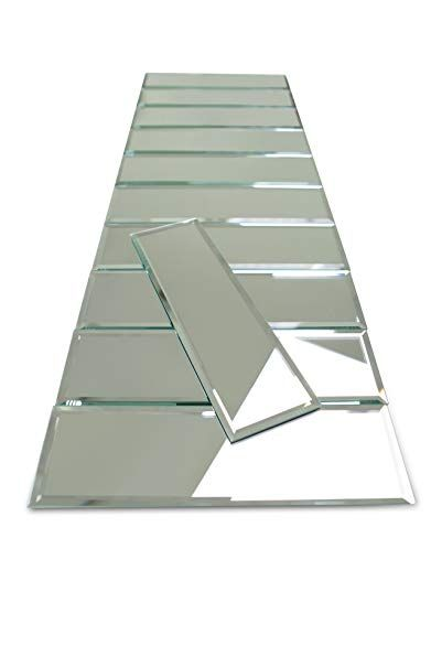 3 X 10 Beveled Silver Mirror Glass Tile 55 Pieces Per Box 10sq Ft Review Glass Mirror Glass Tile Silver Mirrors