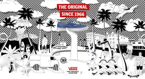 """Vans celebra i suoi 50 anni con la campagna The Story of Vans, un omaggio a mezzo secolo di tradizione """"Off The Wall"""" ed espressione creativa."""