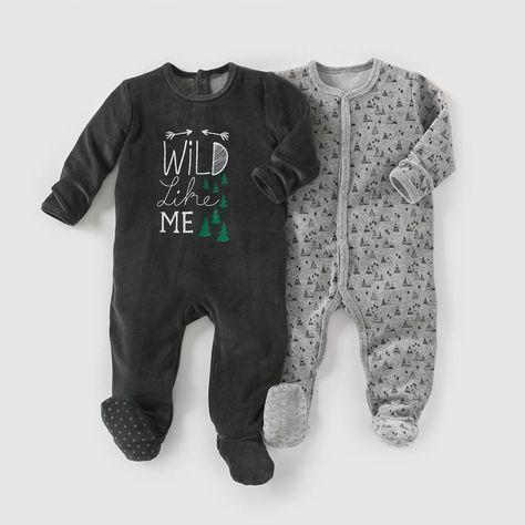 b3fec63673e83 Pyjama velours (lot de 2) 0 mois-3 ans R mini   prix