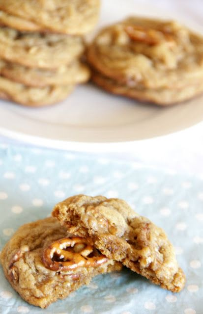 White Chocolate Chunk Pretzel Cookies from MY HAPPY PLACE