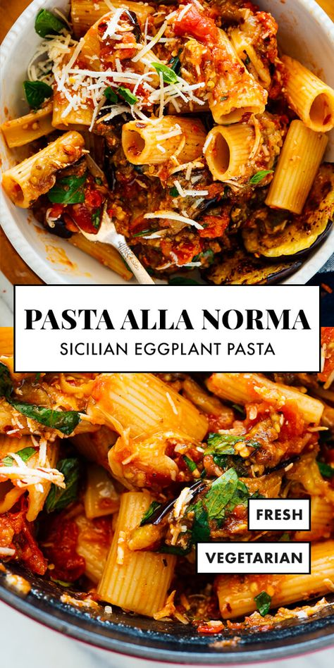 Vegetarian Recipes, Healthy Recipes, Vegetarian Pasta Dishes, Autumn Dinner Recipes Vegetarian, Meatless Pasta Recipes, Winter Dinner Recipes, Vegetarian Dinners, Roast Eggplant, Roasted Eggplant Recipe