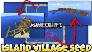 Survival Island W Village Seed Showcase Minecraft Bedrock Xbox Mcpe Windows 10 Island Survival Minecraft Island
