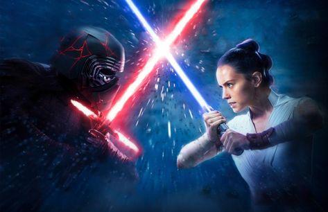 HD wallpaper: Lightsabers, Kylo Ren, Lucasfilm, Adam Driver, Rey, Daisy Ridley