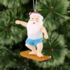 Christmas Summer Snorkelling Santa Ornament Big W Santa Ornaments Christmas Coastal Christmas