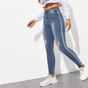 Pin En Jeans Tiro Alto Para Mujeres 2019