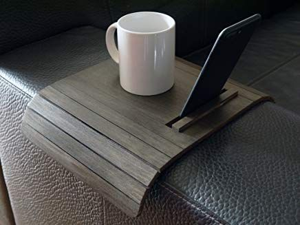 Wooden Slinky Sofa Table For Armrest With Smartphone And Tablet Stand In Many Colors As Wenge Small Flexible Over Sofa Table Design Wooden Couch Blue Furniture