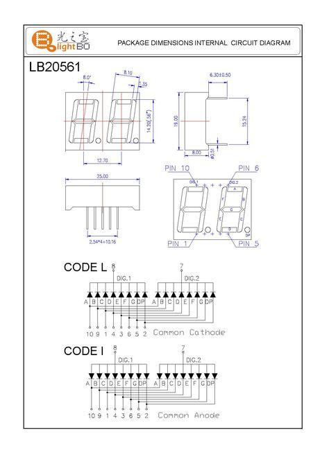 "White 0.56/"" 1 Digit 7 Seven Segment Display Cathode LED"