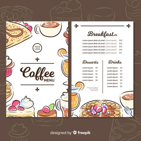 Cafeteria menu Free Vector | Free Vector #Freepik #freevector #food #menu #coffee #hand