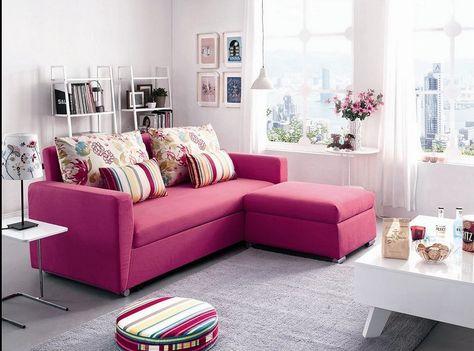 Modern Simple Design Big L-shape Sectional Fabric Sofa Set Living ...