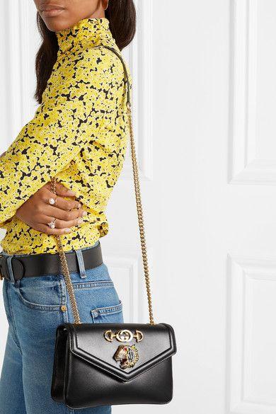 b77f81d20 $2600 Gucci | Rajah small embellished leather shoulder bag |  NET-A-PORTER.COM