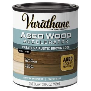 Varathane 1 Qt Aged Wood Accelerator 2 Pack 331305 The Home Depot Aging Wood Weathered Wood Stain