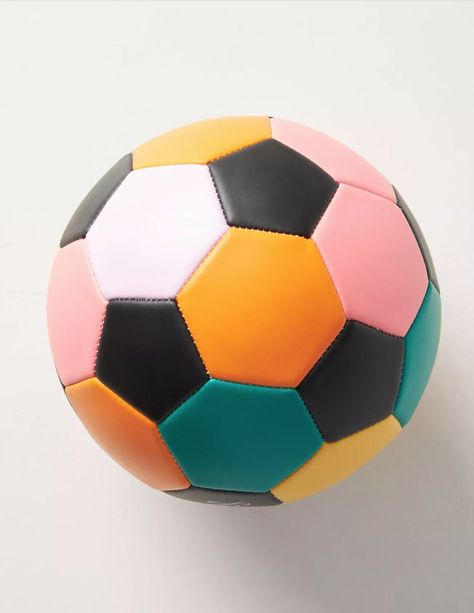 Designed by Edie Parker exclusively for Anthropologie, this regulation-sized soccer ball comes in a playful, colorblocked palette that's sure to draw compliments both on and off the field.