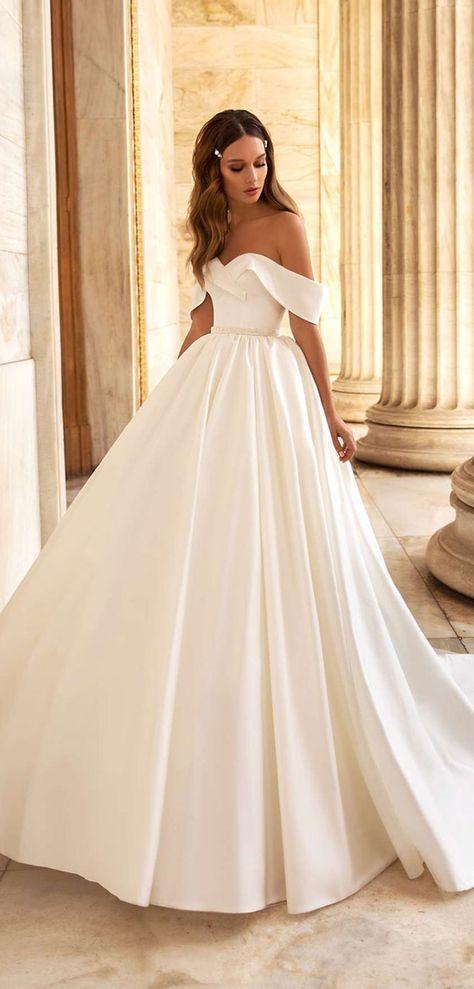 Off the shoulder wedding gown Luce Sposa wedding dress - the Greece Campaign #wedidngdress #weddinggown wedding dress